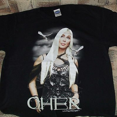 Collectors Cher Living Proof Farewell Tour 2002  double-sided tee  & ticket stub