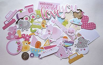 SCRAPBOOKING NO 124 - 38 CARD DIE CUTS - BABY GIRL  - Scrapbooking & Card Making