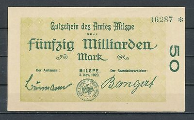 Milspe  -  Amt   -   50 Mrd. Mark   -   3. Nov. 1923