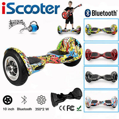 10 INCH SELF BALANCING SCOOTER ELECTRIC 2 WHEELS BALANCE BOARD+Bluetooth+Remote