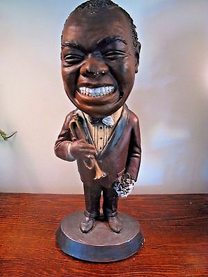 Vintage 1972 Esco Products Louis Armstrong SATCHMO Chalkware Figurine