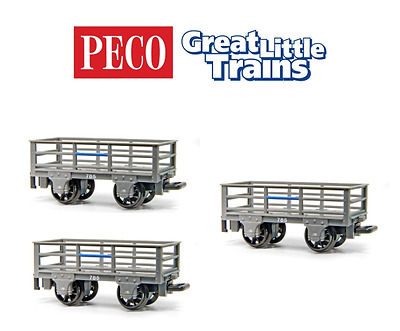 Peco GR-320 2 Ton Slate Wagons All Unbraked (Pack of 3) OO-9 Gauge