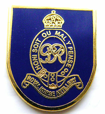 The Royal Horse Artillery Army Military Lapel Pin Badge Free Gift Pouch Mod Appr