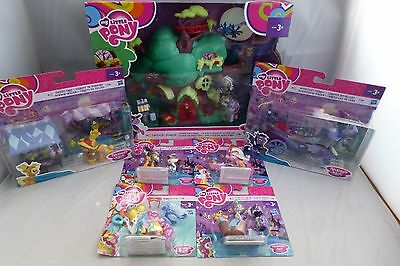 NEW - My Little Pony Mega Bundle -Mini Figures, Playsets, Accessories -Some Rare