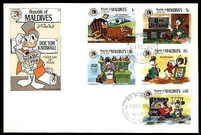 December 21, 1985 Maldives Doctor Knowall first-day cover
