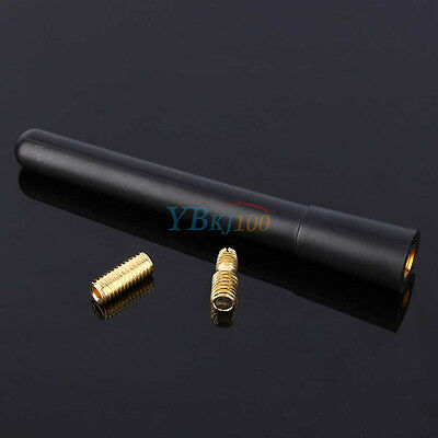 New Short Stubby Car Antenna AM/FM Radio Aerial Mast Screw Type Universal DH