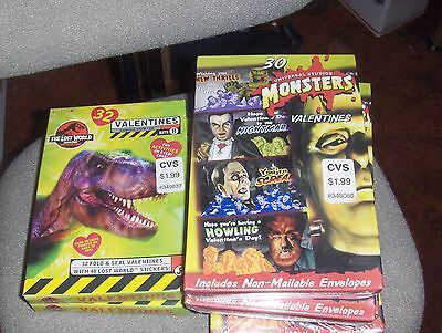 7  BOXES  Monster  Valentines -