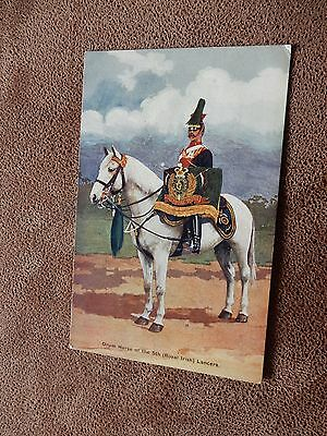 Early postcard-British Army - 5th Royal Irish Lancers -  Drummer / Drum horse