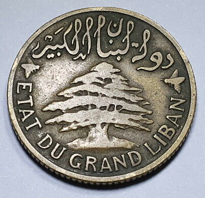 Lebanon French Protectorate 1925 5 Piastres Etat Du Grand Liban Antique Currency