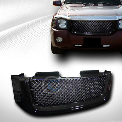Fits 02-08 GMC Envoy Glossy Black Mesh Front Hood Bumper Grill Grille Guard ABS