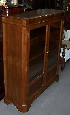 Vintage Wooden China Cabinet with Glass in Doors