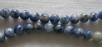 "A 15"" String of Denim Lapis Round Beads - Various Sizes"