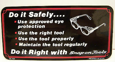 **NEW** Vintage Snap On Tools Do It Safely Do It Right Decal Sticker  #SS-705