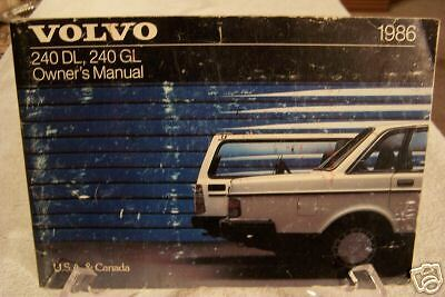 **LOOK** 1986 Volvo 240 DL 240 GL Owners Manual  86