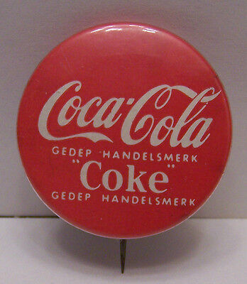 **VINTAGE** Coka-Cola Pin Button. Originates From The Netherlands 1960's