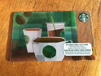 "Canada Series Starbucks ""BEANS TO COFFEE 2017"" Gift Card - New No Value"