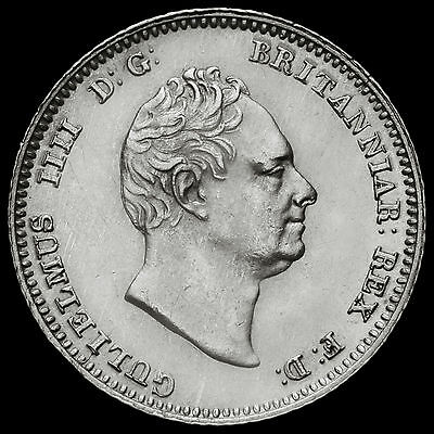 1837 William IV Milled Silver Fourpence / Groat