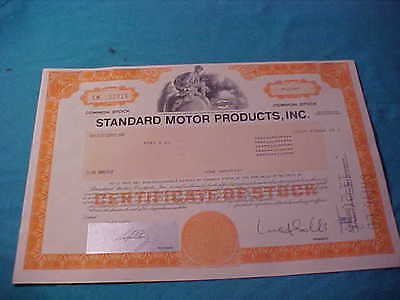 Old Stock Certificate New York 100 Shares Standard Motor Products Inc. 1995