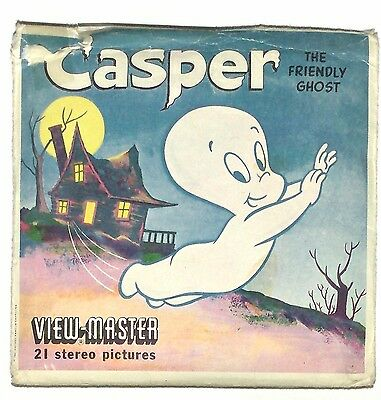 vintage SAWYERS View Master CASPER THE FRIENDLY GHOST reels CARTOON viewmaster !