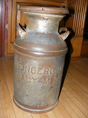 Vintage Dairy 5 Gallon Farm Cream Milk Can Patina  & Tracy,Minn-Markings