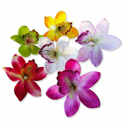 Large 12cm Orchid Flower Floral Hair Clips Bridal Wedding Bridesmaids Accessory
