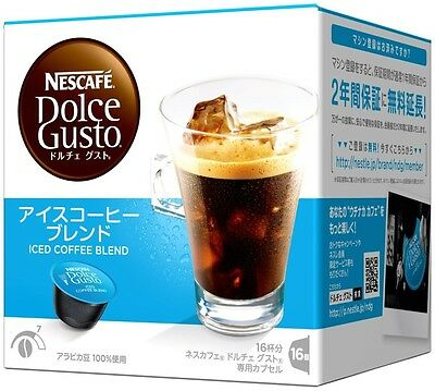 New Japan Nescafe Dolce Gusto Capsule Iced Coffee Blend 16 capsules x 3 Boxes