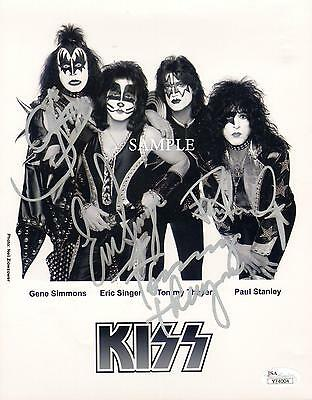 Kiss Band #3 Reprint Autographed Signed Photo 8X10 Gene Simmons Paul Stanley Rp
