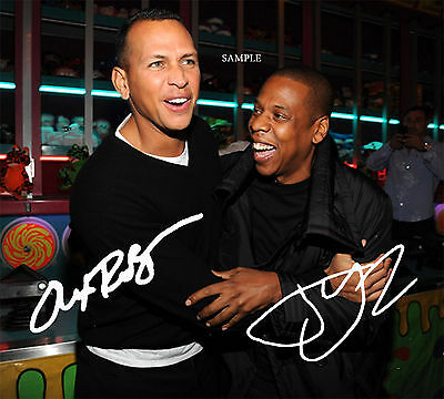 Alex Rodriguez Arod Jay-Z Reprint Autographed Photo Signed 8X10 Ny Yankees Gift