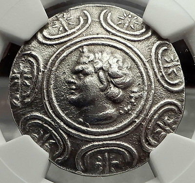 ANTIGONOS II GONATAS 274BC Silver Tetradrachm Ancient Greek Coin PAN NGC i59095
