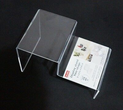 Daiso Clear Acrylic Display Stand - Two (2) Stage Lego Kubrick Action Figures