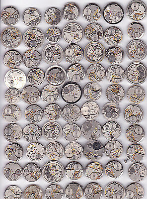Lot of 70 MEN WATCHES  Vintage Movements Steampunk Art  or for parts