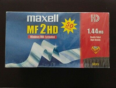 Maxell Mf 2 Hd Double Sided High Density Floppy Disks Box Of 50 New And Sealed