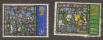 Great Britain Scott#s 662-663, Adoration & Journey of the Kings, Used, 1971