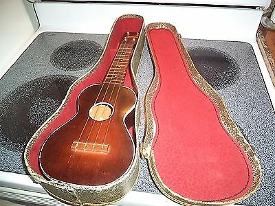 Vintage Geib Economo Case & Harmony Ukulele Collectible