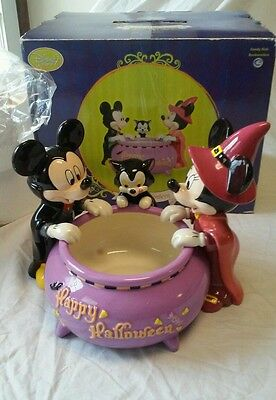 BRAND NEW Disney Mickey & Minnie Mouse Halloween Candy Bowl Dish RETIRED & RARE