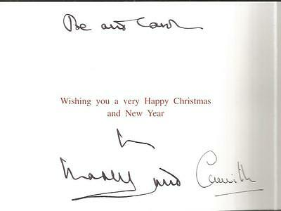 Prince Charles and Camilla signed Christmas Card nice image from Wedding AK77