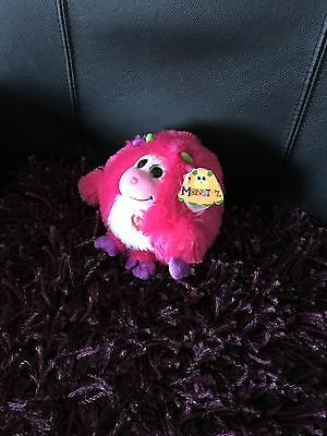 "New Ty Monstaz Silly Talks TRIXIE 6"" Pink Purple Plush Monster 2012 Stuffed Toy"
