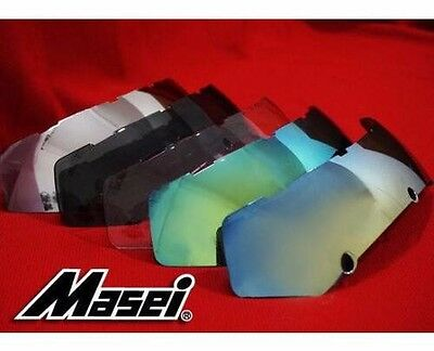 Color Visor Shield Masei 610 Atomic Man Iron Flip-Up Motorcycles Helmet New