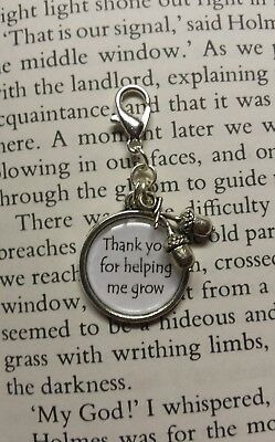 Teacher Thank you for helping me grow, acorn Dangle Charm For Mobile Phone