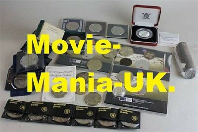 UK Crown Coins, Five Pound £5,Gold Plated Commemorative Strikes & Worldwide.