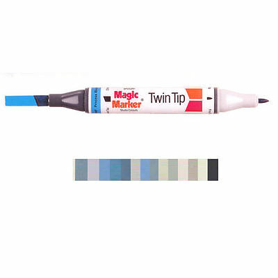 Magic Marker Twin Tip Marker Pen - Grey Colours
