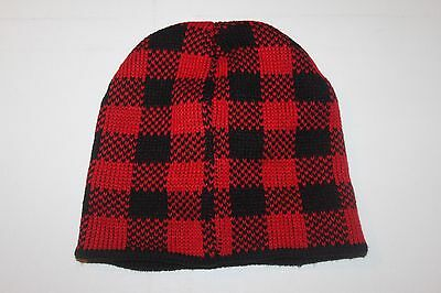 Wholesale Job Lot Of 10 Adults Unisex Black / Red Winter Beanies Hats - new