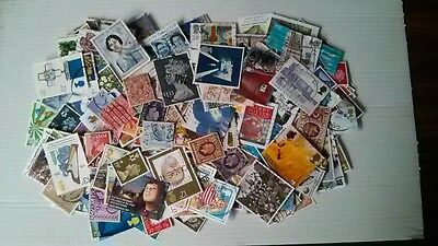 Collection of GB used stamps OFF PAPER all reigns over 1000 stamps all different