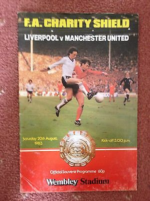 1983 Charity Shield Programme - Liverpool v Manchester United