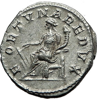 GORDIAN III 243AD Authentic Genuine Ancient Silver Roman Coin Fortuna i59126