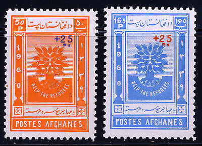 Afghanistan 1960 Help The Refugee's Surcharged Set Scott B35-36