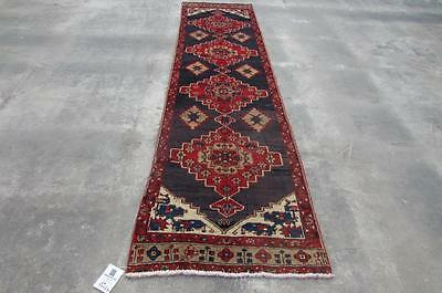 2'4X9'7 hand knotted tribal Persian Rug Vintage Woolen  Oriental Carpet  69