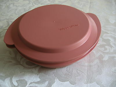 Tupperware Microwave Reheatables Dish 2527A & Lid 2528A Dusty Rose Pink Mauve