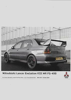 Mitsubishi Lancer Evo Viii Mr Fq Original Press Photo 2004 'brochure' Connected