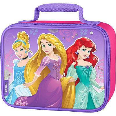 DISNEY PRINCESS RAPUNZEL & ARIEL Thermos® Lead-Free Insulated Lunch Tote NWT $20